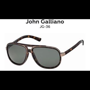 👓 John Galliano aviator brown sunglasses